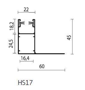 Rolluik geleider HS17