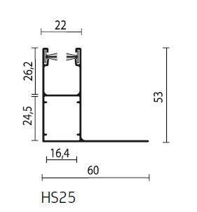 Rolluik geleider HS25